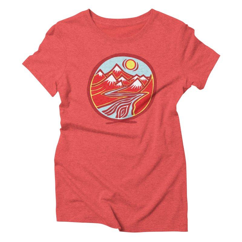 Natural Calming Multi Color Women's Triblend T-Shirt by jon cooney's print shop