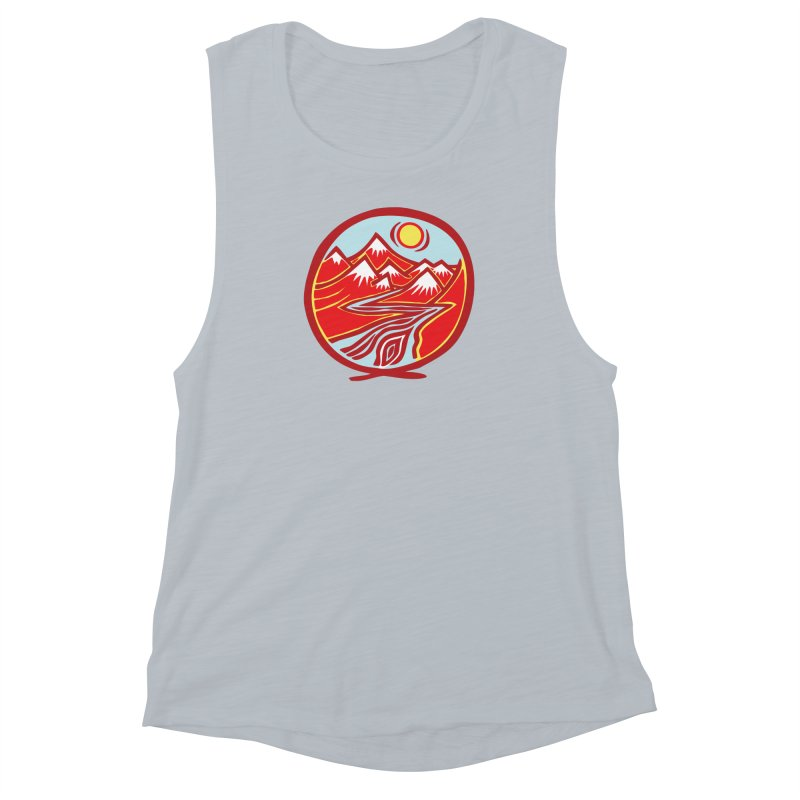 Natural Calming Multi Color Women's Muscle Tank by jon cooney's print shop