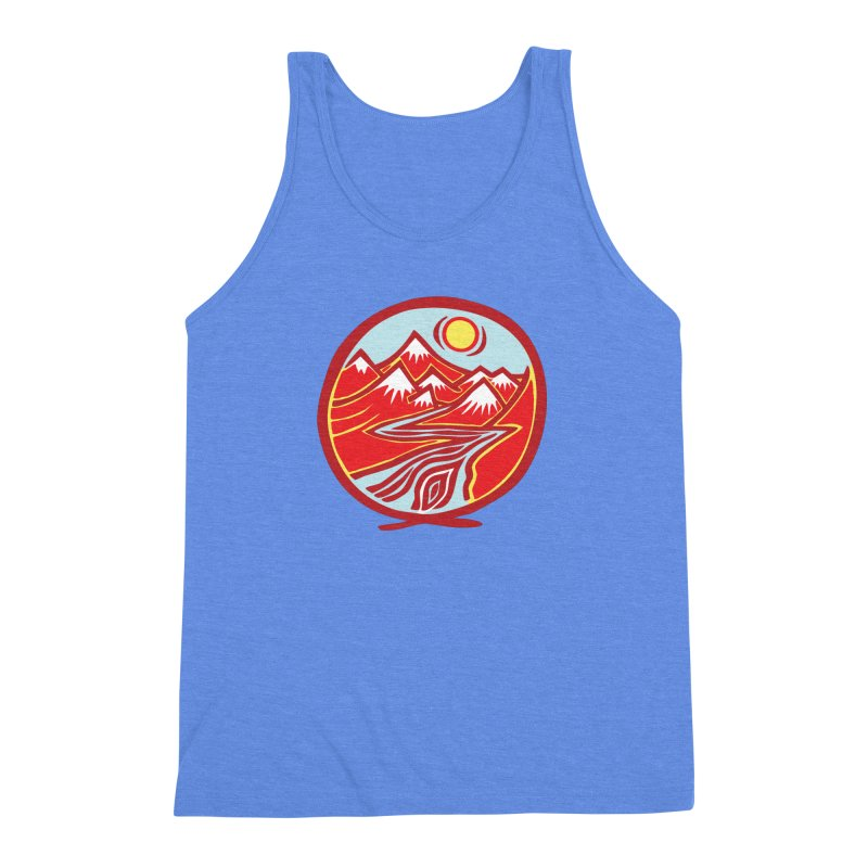 Natural Calming Multi Color Men's Triblend Tank by jon cooney's print shop