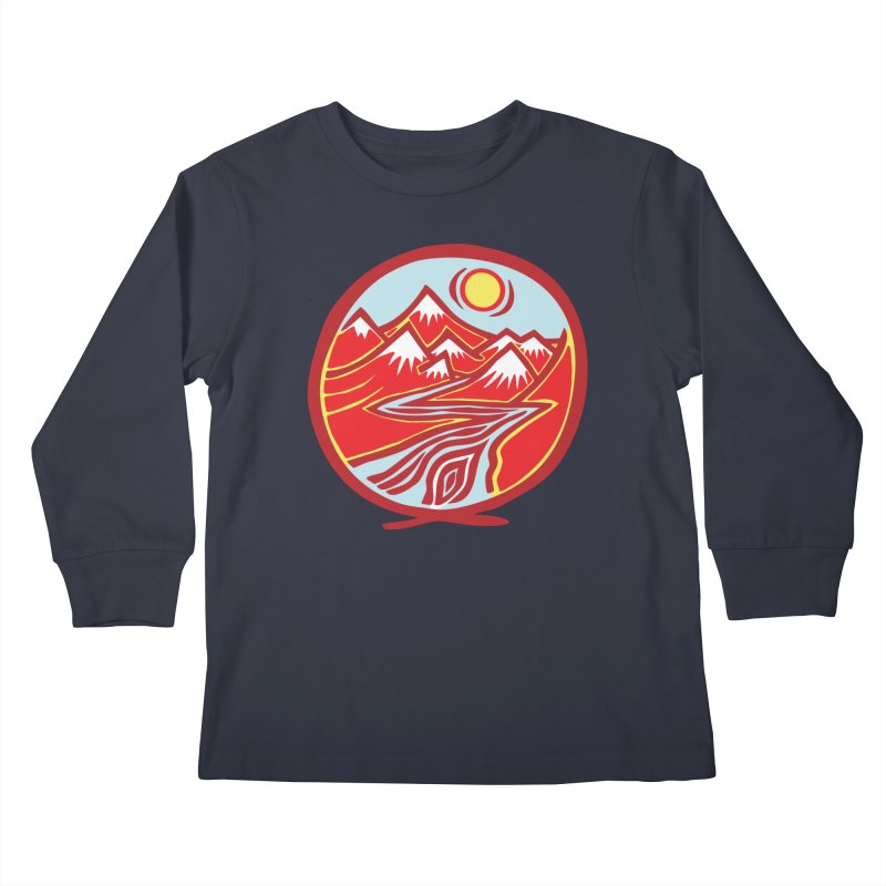 Natural Calming Multi Color Kids Longsleeve T-Shirt by jon cooney's print shop