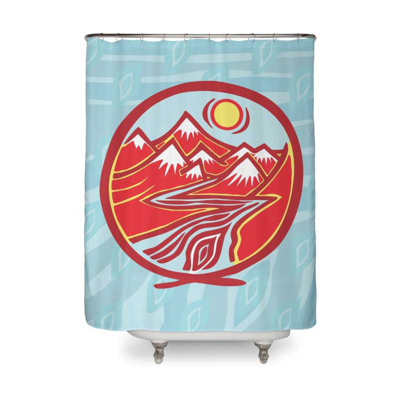 Natural Calming Multi Color Home Shower Curtain by jon cooney's print shop