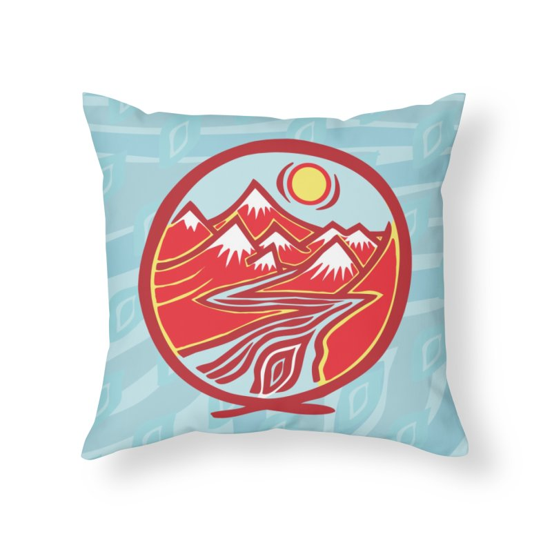 Natural Calming Multi Color Home Throw Pillow by jon cooney's print shop