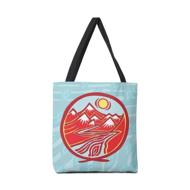 Natural Calming Multi Color Accessories Bag by jon cooney's print shop