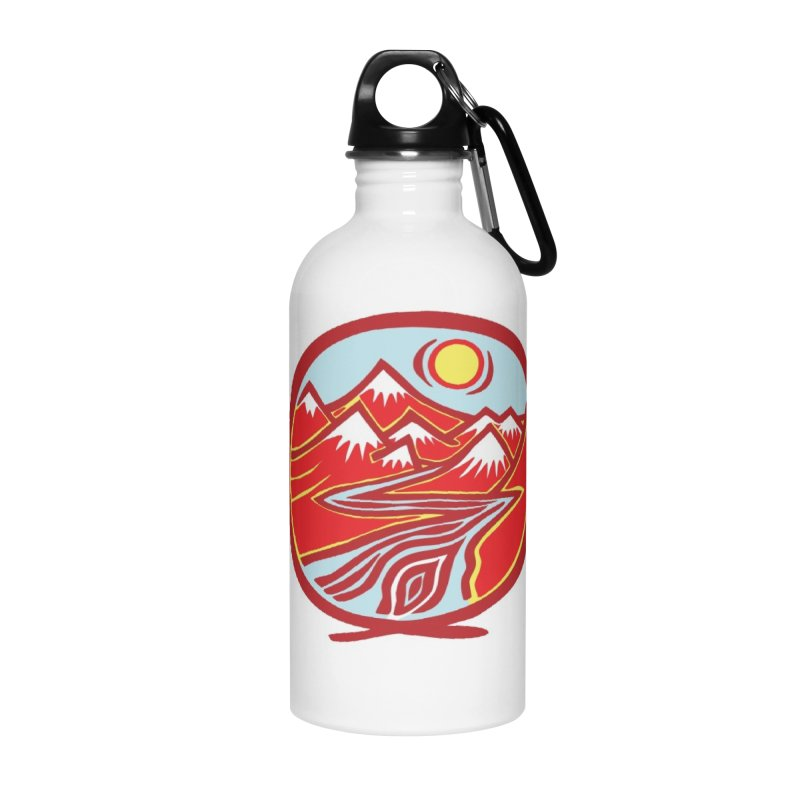 Natural Calming Multi Color Accessories Water Bottle by jon cooney's print shop