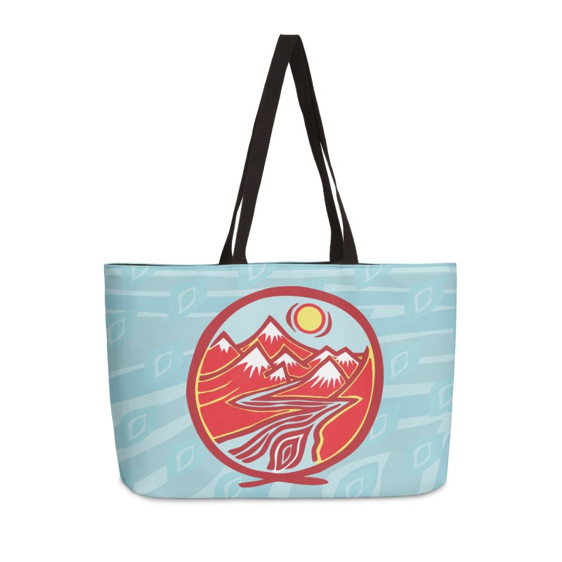 Natural Calming Multi Color Accessories Weekender Bag Bag by jon cooney's print shop