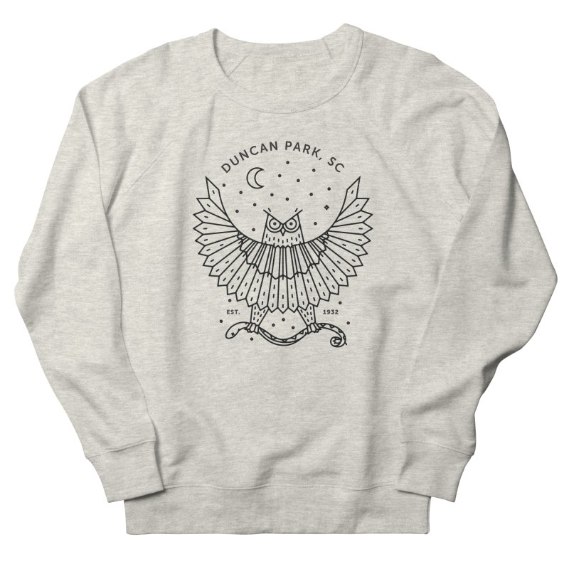 Watch Your Back Men's French Terry Sweatshirt by Jon Gerlach's Artist Shop