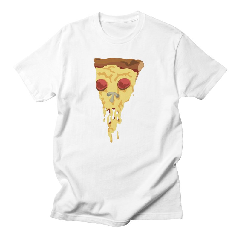 Pizza Skull in Men's Regular T-Shirt White by Jon Gerlach's Artist Shop