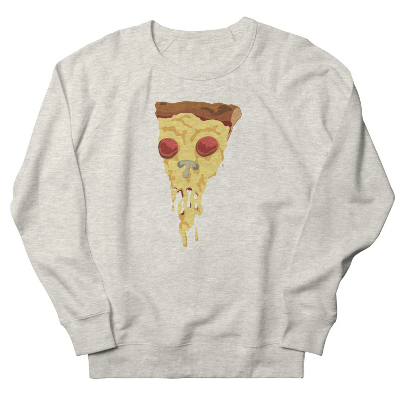 Pizza Skull Men's French Terry Sweatshirt by Jon Gerlach's Artist Shop