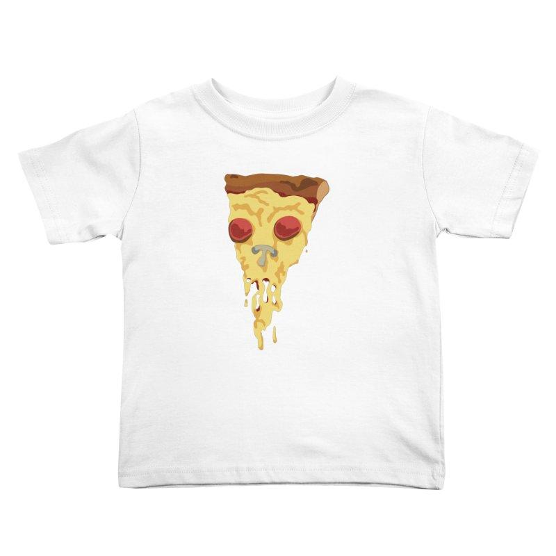 Pizza Skull Kids Toddler T-Shirt by Jon Gerlach's Artist Shop