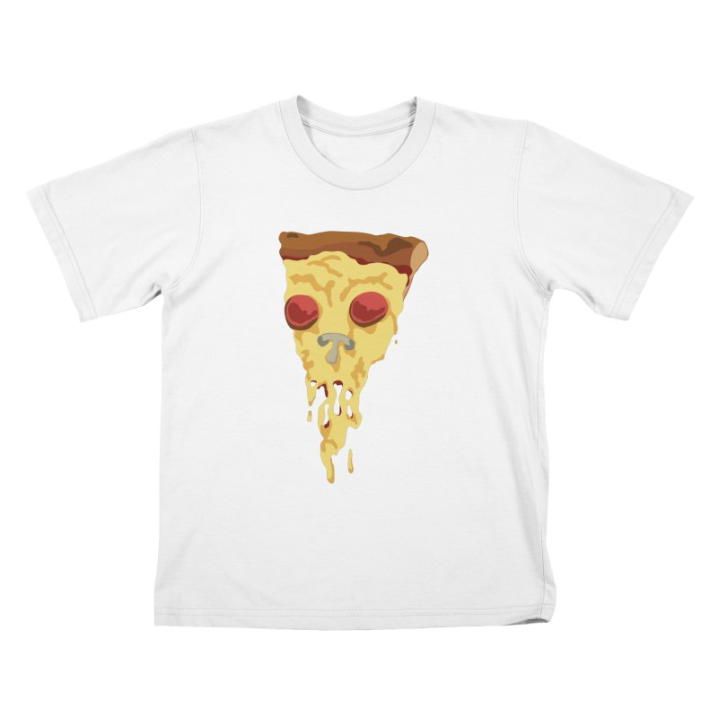 Pizza Skull Kids T-Shirt by Jon Gerlach's Artist Shop