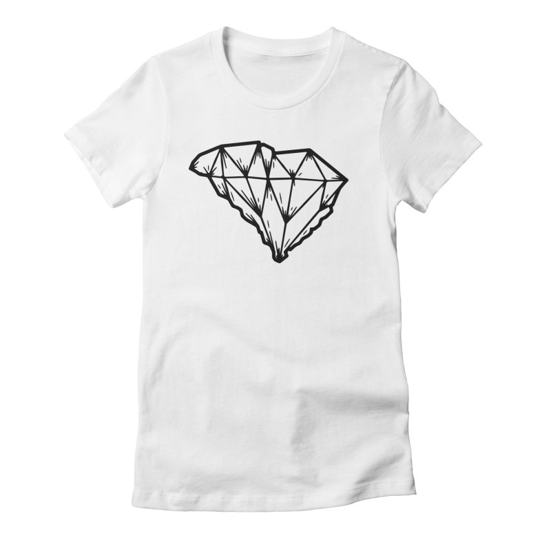 Jewel of the South Women's Fitted T-Shirt by Jon Gerlach's Artist Shop