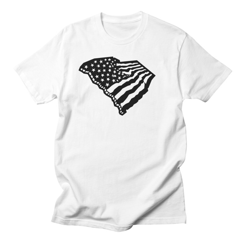 Stars and Stripes Over Carolina Men's T-Shirt by Jon Gerlach's Artist Shop
