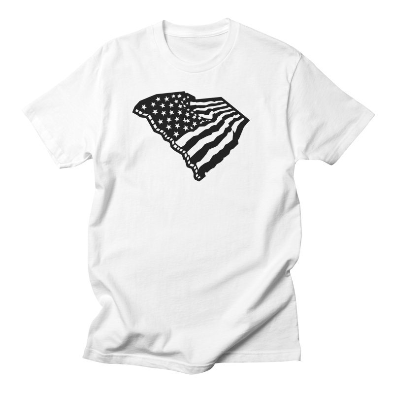 Stars and Stripes Over Carolina Men's T-Shirt by Jon Gerlach's Artist Shop