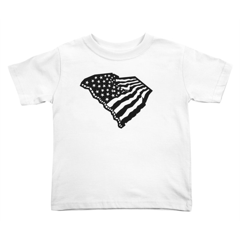Stars and Stripes Over Carolina Kids Toddler T-Shirt by Jon Gerlach's Artist Shop