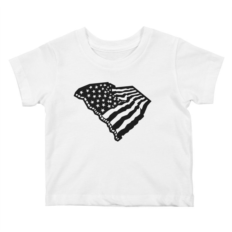 Stars and Stripes Over Carolina Kids Baby T-Shirt by Jon Gerlach's Artist Shop