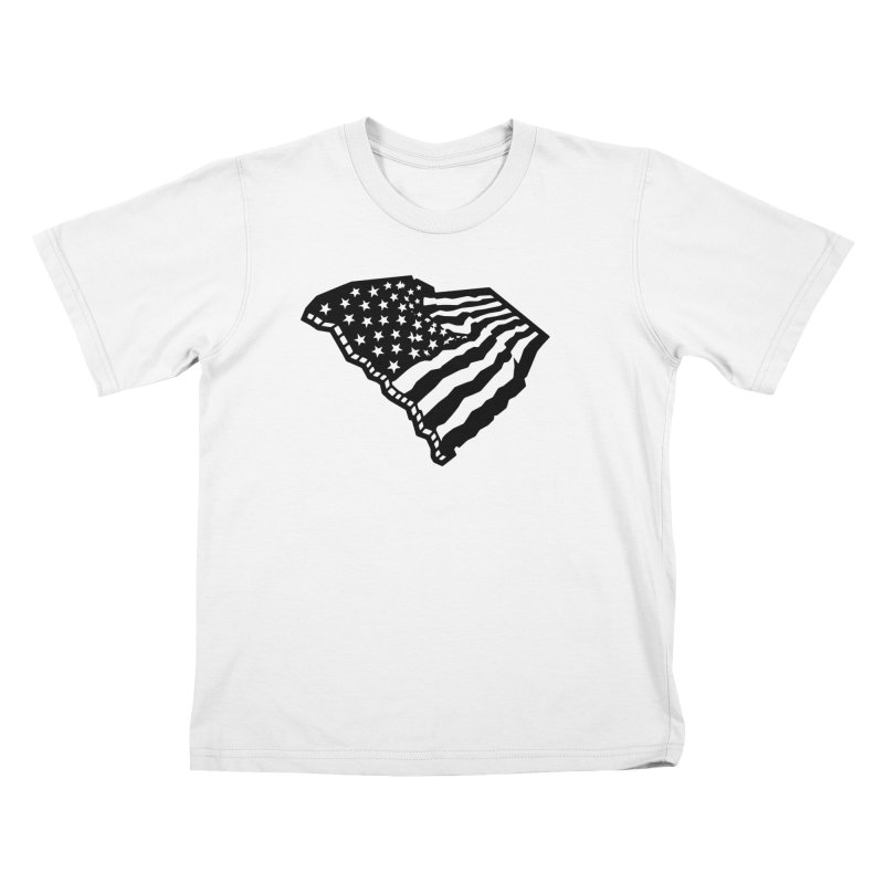 Stars and Stripes Over Carolina Kids T-Shirt by Jon Gerlach's Artist Shop