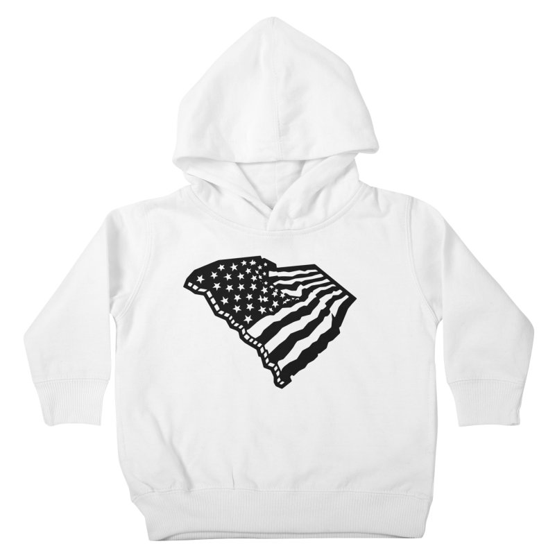 Stars and Stripes Over Carolina Kids Toddler Pullover Hoody by Jon Gerlach's Artist Shop