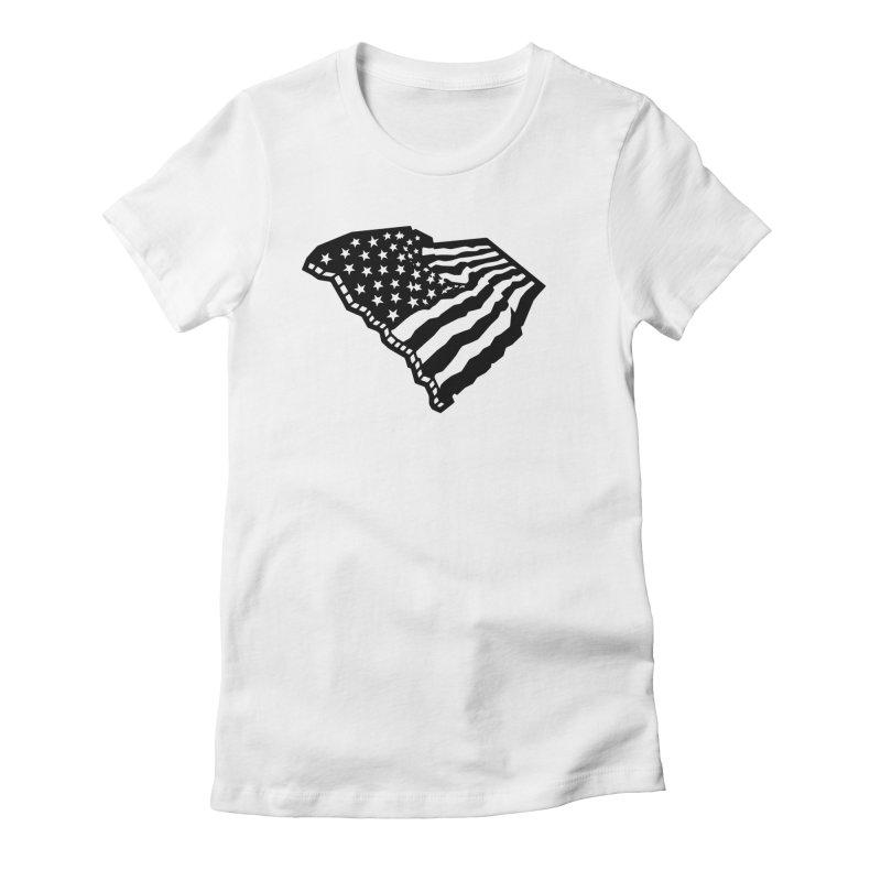 Stars and Stripes Over Carolina Women's French Terry Sweatshirt by Jon Gerlach's Artist Shop