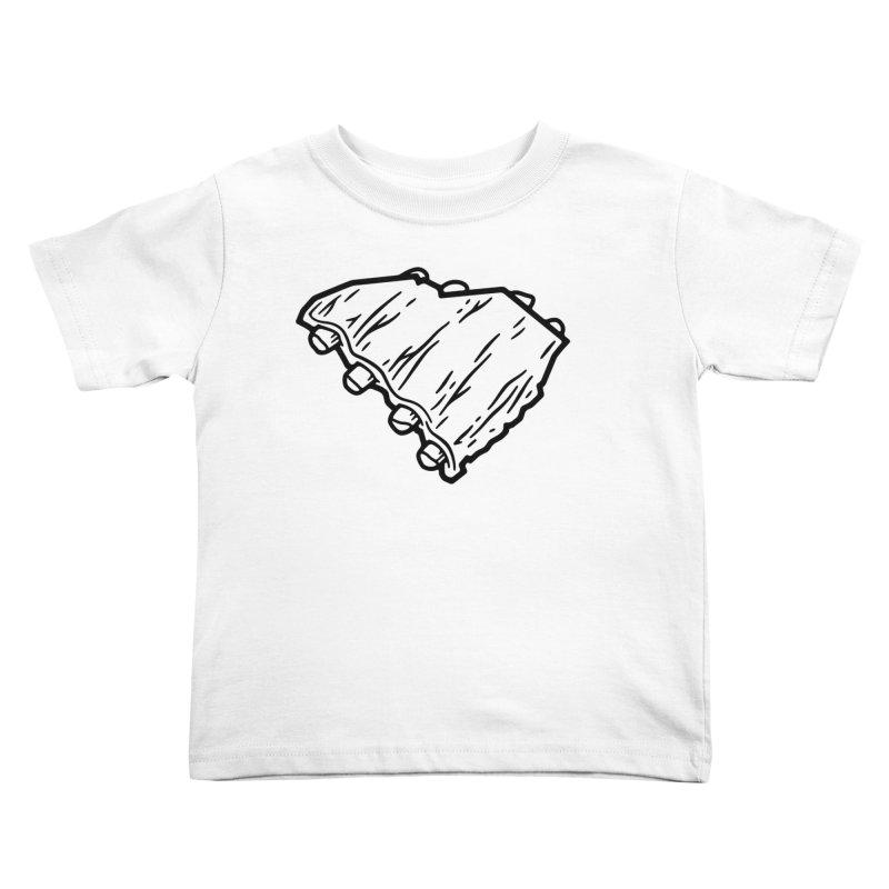 Southern BBQ Ribs Kids Toddler T-Shirt by Jon Gerlach's Artist Shop