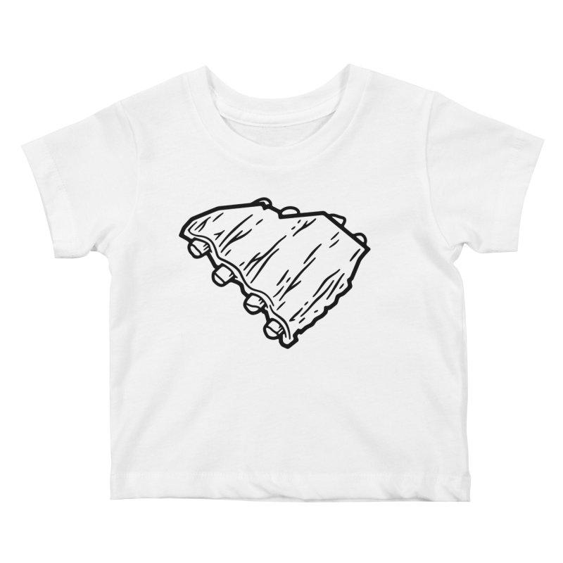 Southern BBQ Ribs Kids Baby T-Shirt by Jon Gerlach's Artist Shop