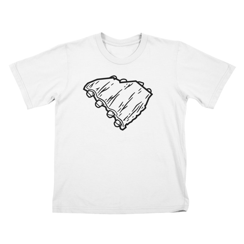 Southern BBQ Ribs Kids T-Shirt by Jon Gerlach's Artist Shop
