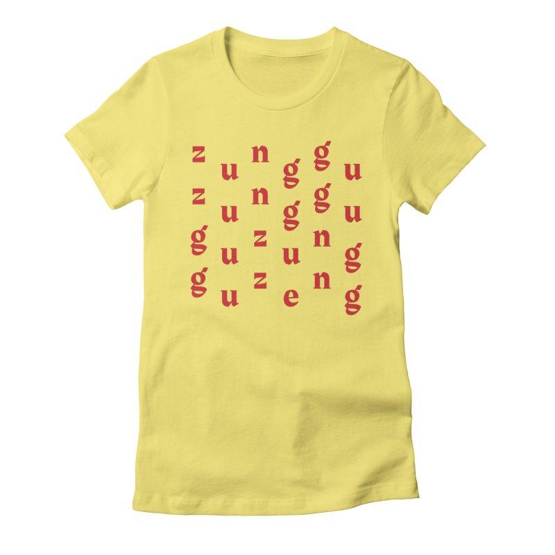 Yellowman nuh bwoy Women's Fitted T-Shirt by Jon Gerlach's Artist Shop