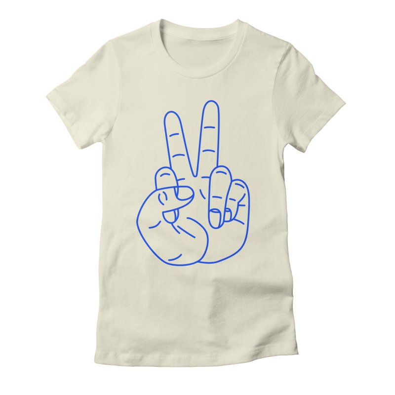 Fuckin' Peace! Women's Fitted T-Shirt by Jon Gerlach's Artist Shop
