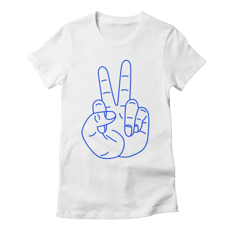 Fuckin' Peace! Women's Fitted T-Shirt by Jon Gerlach's Artist Shop
