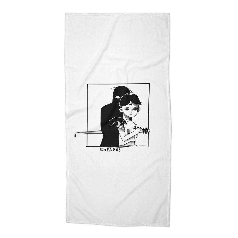 Espadas Accessories Beach Towel by JoniWaffle's Artist Shop