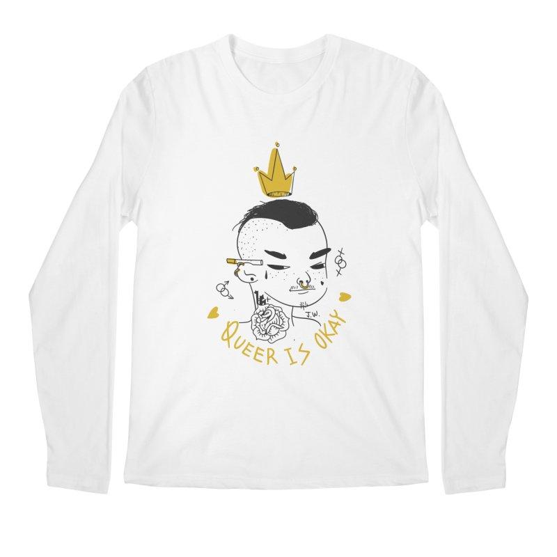 Queer is OK! Men's Longsleeve T-Shirt by JoniWaffle's Artist Shop