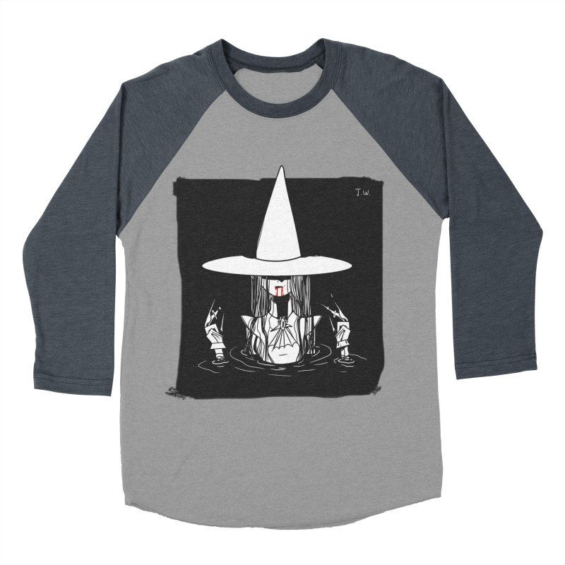 Witch Men's Baseball Triblend T-Shirt by JoniWaffle's Artist Shop