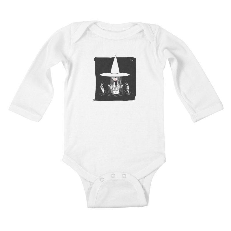 Witch Kids Baby Longsleeve Bodysuit by JoniWaffle's Artist Shop