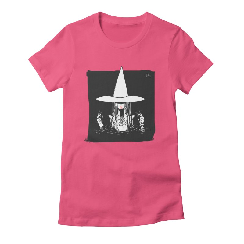 Witch Women's Fitted T-Shirt by JoniWaffle's Artist Shop