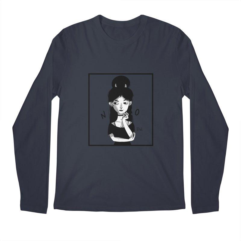 NO Men's Longsleeve T-Shirt by JoniWaffle's Artist Shop