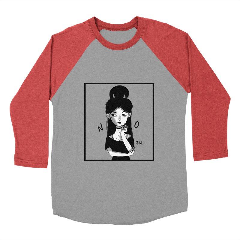 NO Women's Baseball Triblend T-Shirt by JoniWaffle's Artist Shop