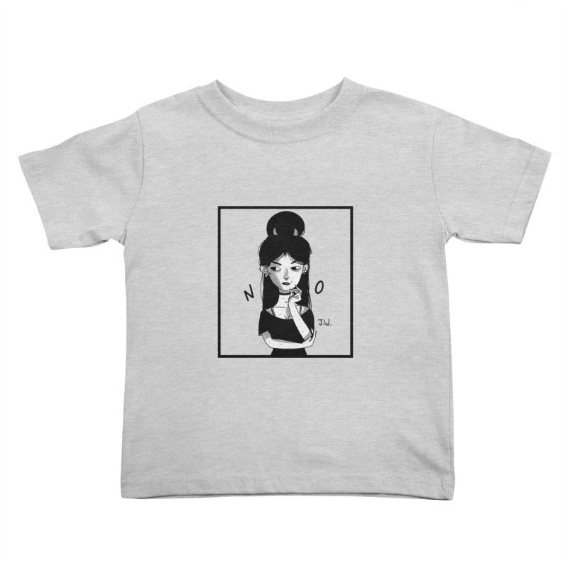 NO Kids Toddler T-Shirt by JoniWaffle's Artist Shop