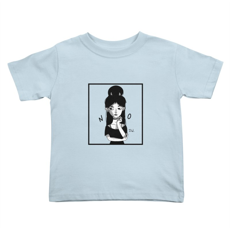 NO Kids Toddler T-Shirt by JoniWaffle's Artist Shop