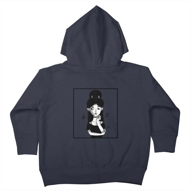NO Kids Toddler Zip-Up Hoody by JoniWaffle's Artist Shop