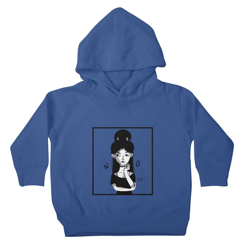 NO Kids Toddler Pullover Hoody by JoniWaffle's Artist Shop