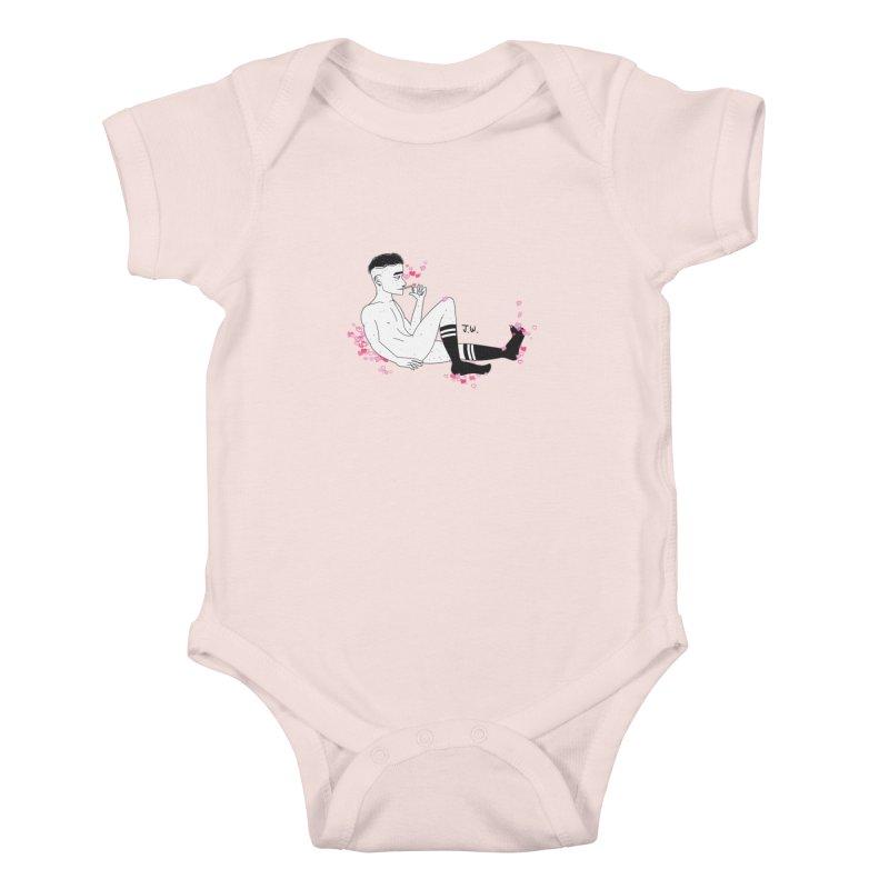 F*CK BOI Kids Baby Bodysuit by JoniWaffle's Artist Shop