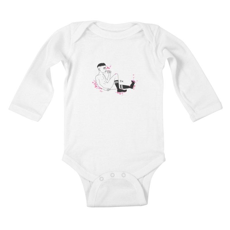 F*CK BOI Kids Baby Longsleeve Bodysuit by JoniWaffle's Artist Shop