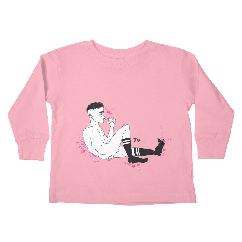F*CK BOI Kids Toddler Longsleeve T-Shirt by JoniWaffle's Artist Shop