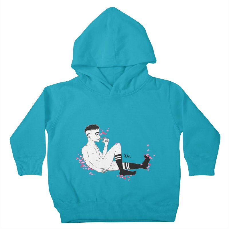 F*CK BOI Kids Toddler Pullover Hoody by JoniWaffle's Artist Shop