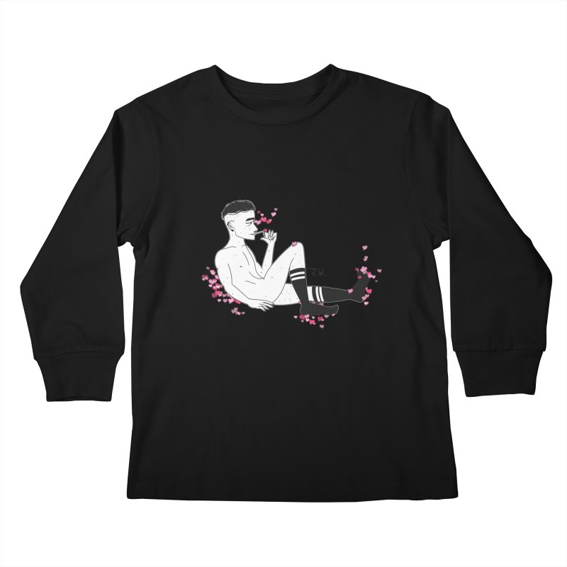 F*CK BOI Kids Longsleeve T-Shirt by JoniWaffle's Artist Shop