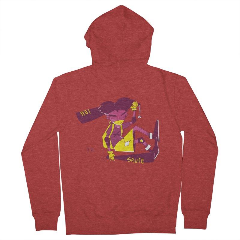 Hot Sauce Men's Zip-Up Hoody by JoniWaffle's Artist Shop