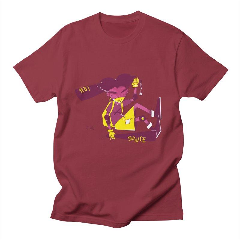 Hot Sauce Men's T-Shirt by JoniWaffle's Artist Shop