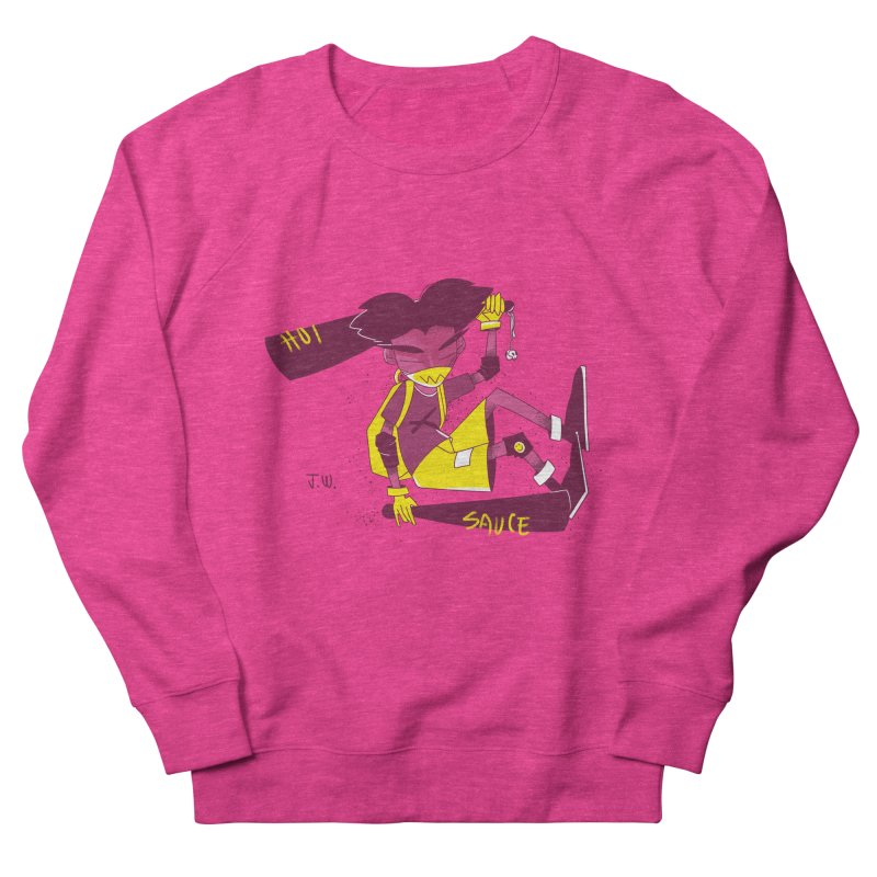 Hot Sauce Men's Sweatshirt by JoniWaffle's Artist Shop