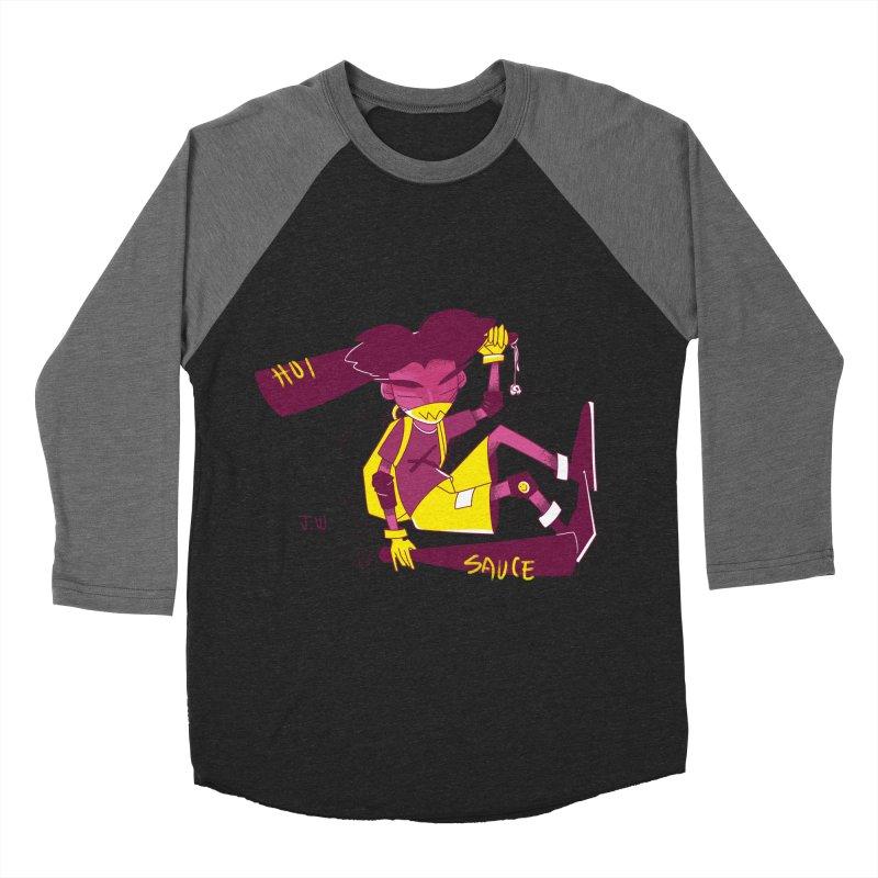 Hot Sauce Women's Baseball Triblend T-Shirt by JoniWaffle's Artist Shop
