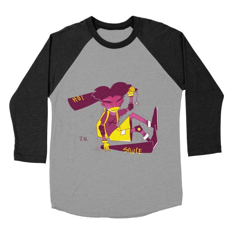 Hot Sauce Men's Baseball Triblend T-Shirt by JoniWaffle's Artist Shop