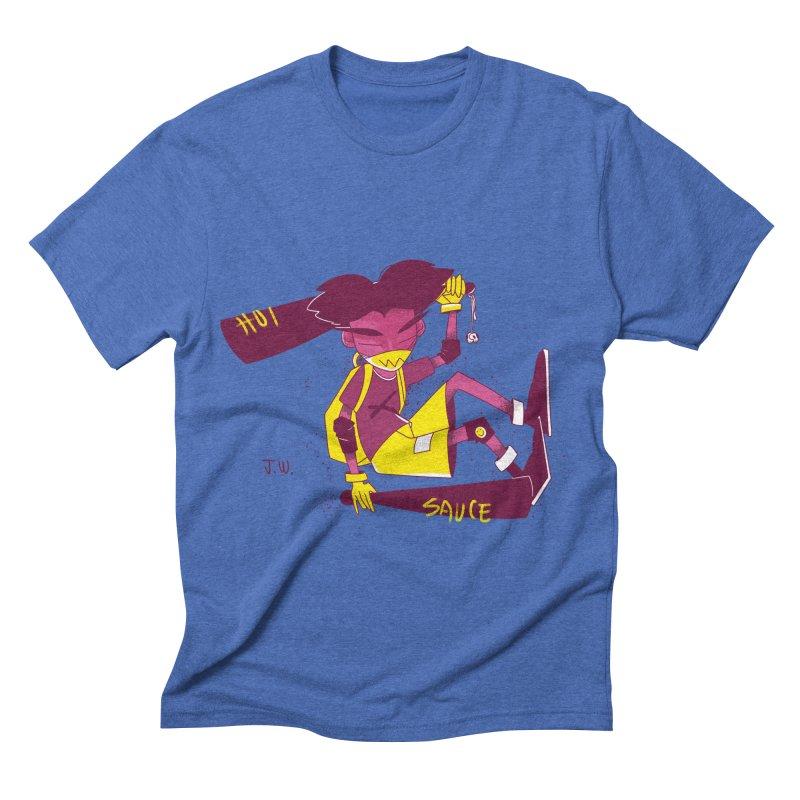 Hot Sauce Men's Triblend T-shirt by JoniWaffle's Artist Shop